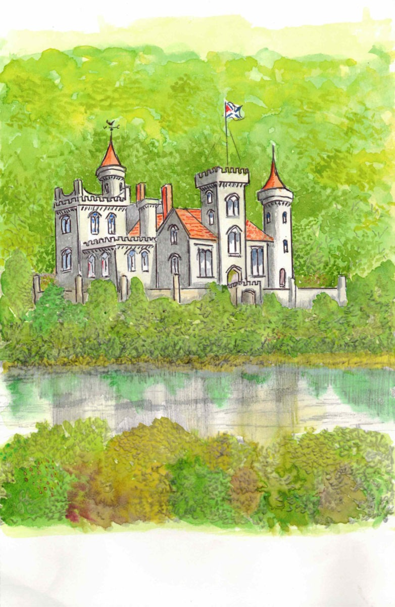 Harry and Emma's purpose-built country mansion was situated beside a wide lake