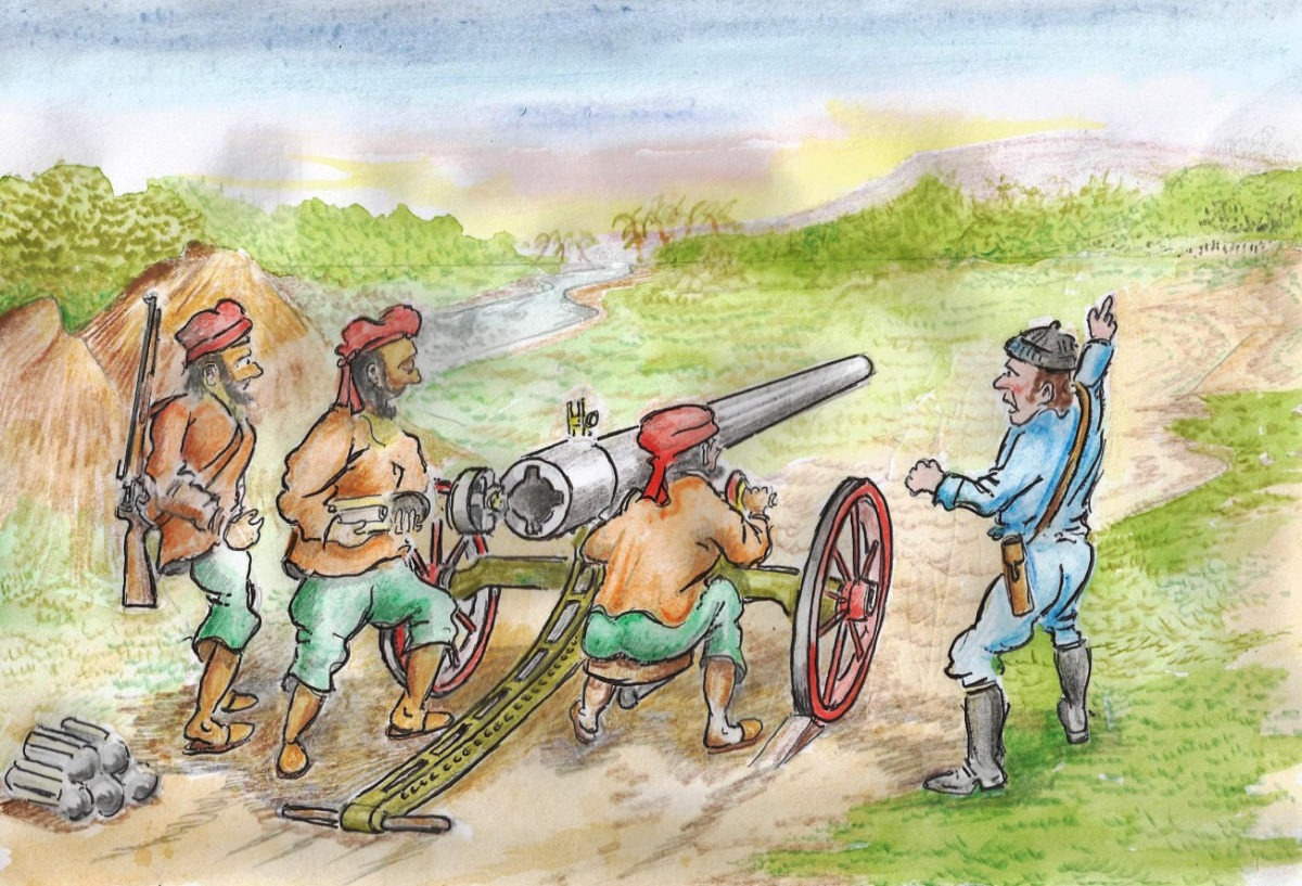 The bandits were to be shown how to operate the field guns